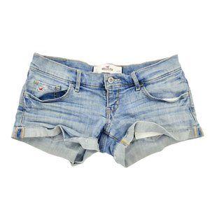 Hollister Jean Shorts Women's 3 26 Blue Denim Cuff
